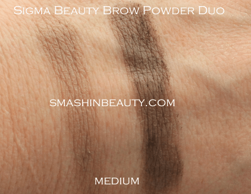 Sigma Beauty Brow Powder Duo Medium Swacthes Makeup Review