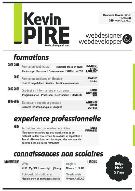 30 Creative Resume Designs That Will Make You Rethink Your CV - web design resumes
