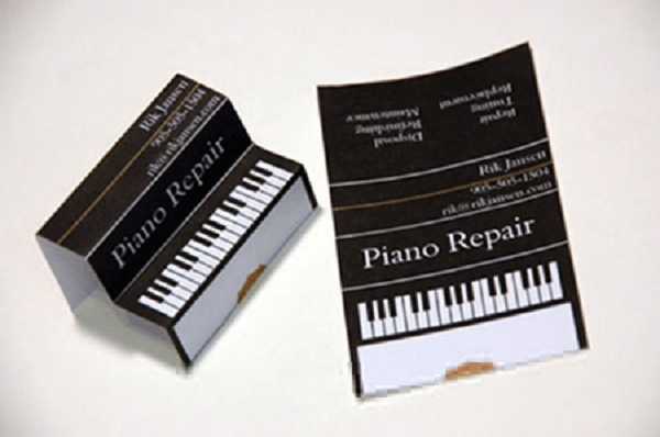 Piano keyboard business card business card ideas t