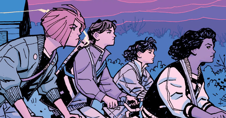 Extra, extra: Get your own 'Paper Girls' pins to support the CBLDF