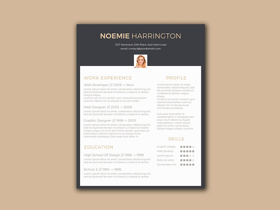 Free Elegant Resume Template with Black Color Scheme - free elegant resume templates