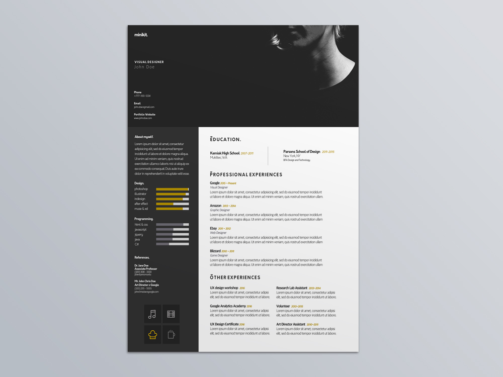 Visual Designer Resume Template for Job Seeker - visual designer resume