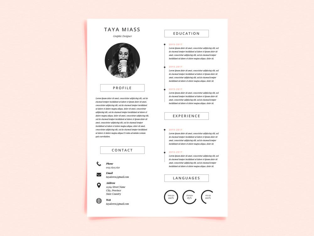 Miass CV - Free Resume Template with Super Minimalist Design