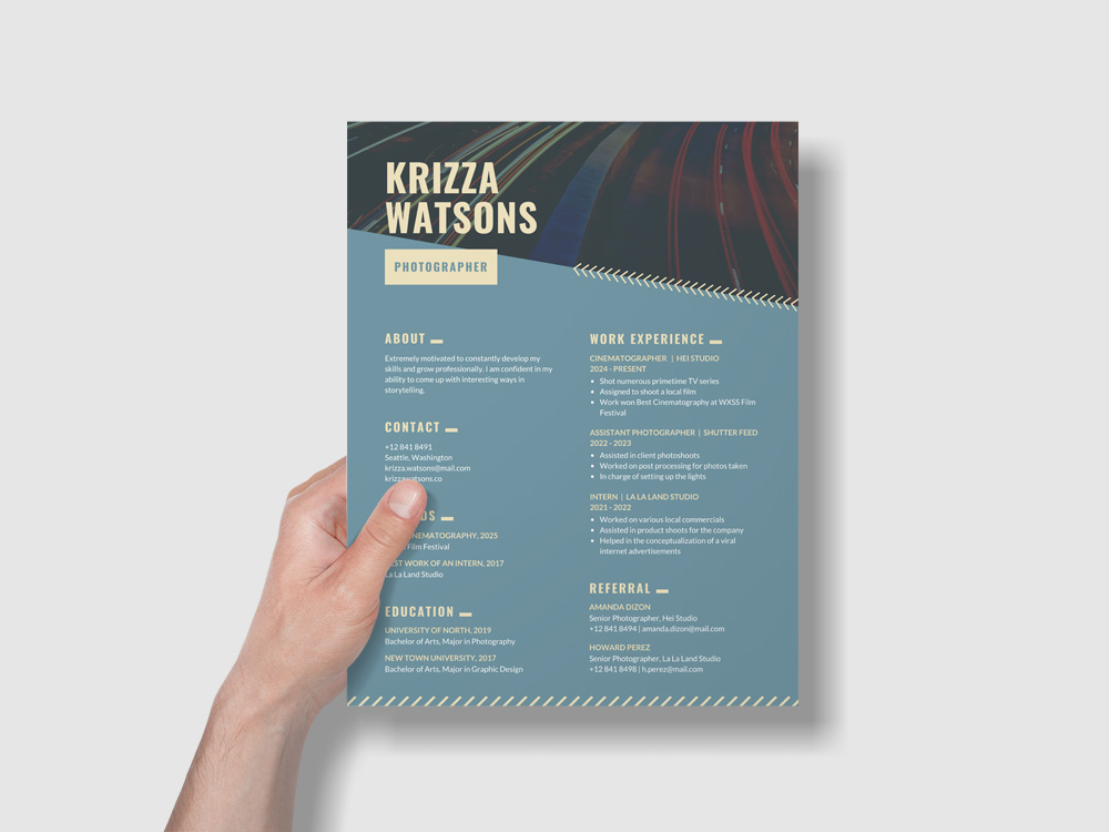 Free Teal Modern Creative Resume Template
