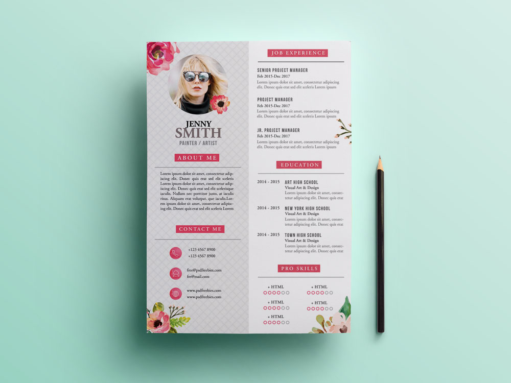 Free Painter Resume Template with Artistic Design - Painter Resume