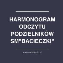 Harmonogram odczytu podzielników – Etap II