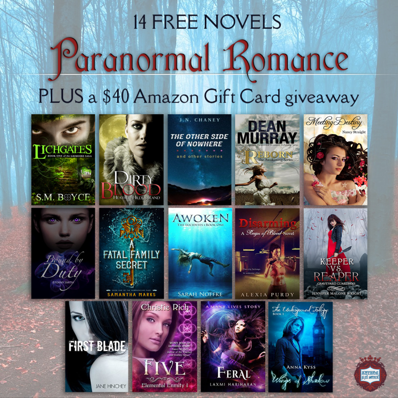08-28 Paranormal Romance Giveaway