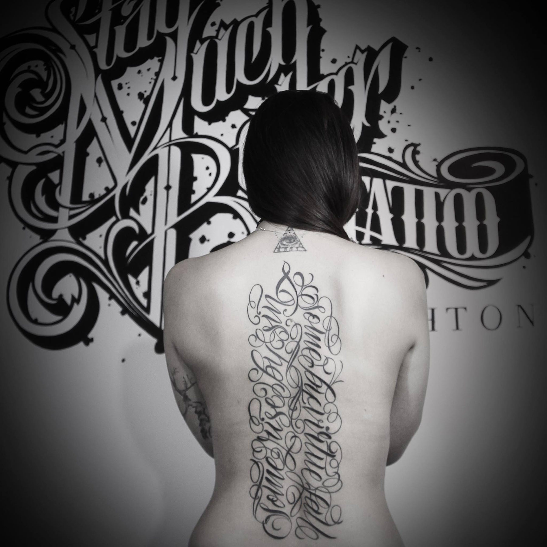 Calligraphy Tattoo Picture Stay Much Better Tattoo Brighton Tattoo Shop Bn1 6dn Mister