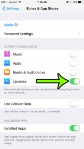 How to Enable Automatic App Updates on an iPhone 6