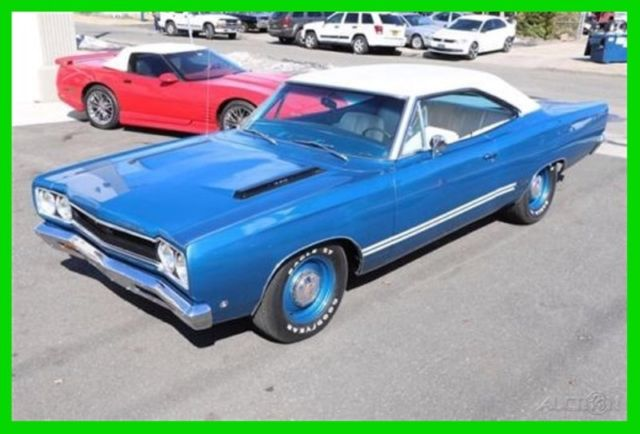 1968 REAL B5 BLUE RESTORED RARE MOPAR-440 Plymouth GTX charger