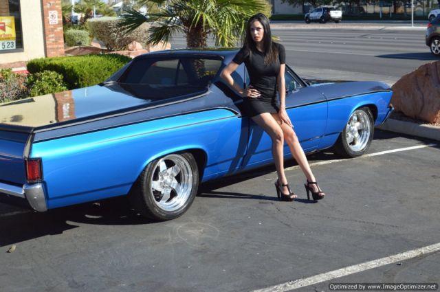 Old Classic El Camino Muscle Cars Wallpaper 1969 Chevy Chevrolet El Camino Truck Car Street Custom