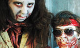 Two East students perform in the Coterie Theatre's production of 'Maul of the Dead'