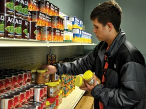 Sophomore is the youngest member on the board of the Village Food Pantry