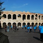 Choir members visited the Arena of Verona in Verona, Italy. Photo by Molly Howland.
