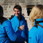 Students wore their blue trip jackets for a majority of the trip. Photo by Molly Howland.