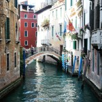 The view from a bridge in Venice. Photo by Molly Howland.