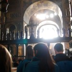 The inside of St. Mark's Basilica in Venice, Italy. The Choraliers sang during a noon mass. Photo by Molly Howland.
