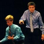 "Sam Bernard and Alec Armer perform their Duo Interpretation ""Dr. Horrible's Sing-Along Blog."""