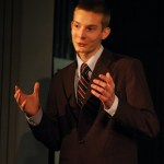 """Brian Phillips performs his Informative Speech """"The Necktie: A Long and Knotty History."""""""