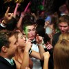 Senior Hank Tamblyn dances with his friends