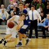 Senior Connor Knabe drives past his defender.  Photo by McKenzie Swanson