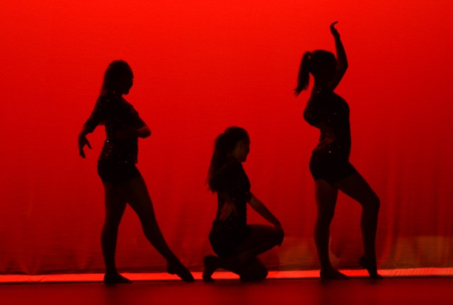 Elizabeth Cox, Kara Lawrence and Audrey Phillips danced to PYT for their Varsity Sophomore dance. Photo by Annie Savage