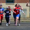 Team Captain America yells their war cry as they run into battle.  Photo by Maxx Lamb