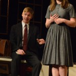 Seniors Alex Ritchie and Maddie Robert perform in their last fall play.