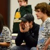 Coach Windorf calls out to wrestler during match. By Katie Lamar