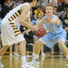 Senior Colin Burns guards senior Nick Banman during the first half of the game. Photo by Marisa Walton