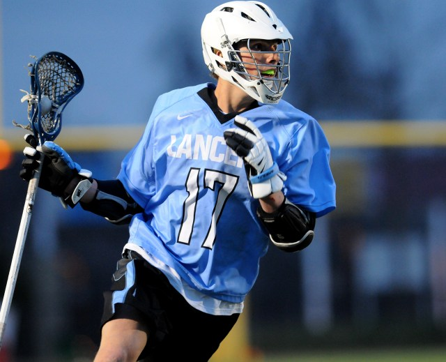 Junior John Aliber looks for an open pass. Aliber had 7 goals for the Lancers. Photo by Marisa Walton