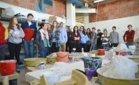 At the Kansas City Art Institute, SME advanced ceramic students get to tour the workspaces of artists at the Institute. Photo by Annie Lomshek.