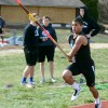 Junior Namhar Bethea sprints up to the pole vaulting mat. Photo by Morgan Browning