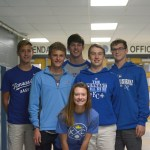 "students in Mr. White's sixth hour sporting their spirit wear. ""The entire 50 minutes of class all we did was talk about the Royals,"" said junior Jack Young"