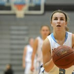 Junior Kyle Haverty focuses before her free throw. Photo by Haley Bell