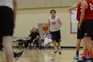 Here is me bringing the ball up the court.