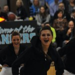 Freshman Megan Walstrom dancing at JV halftime dance. Photo by Carson Holtgraves