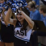Junior Lily Horton cheers after a player scores. Photo by Abby Blake