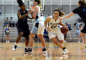Gallery: Varsity girls' basketball vs Leavenworth
