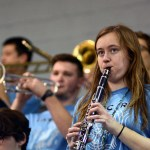 Junior Meredith Findley plays the clarinet in the pep band.  Photo by Elaine Chamberlain