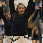 Freshman Megan Walstrom performs with the JV Lancer Dancers. Photo by Audrey Kesler