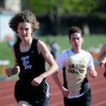 Freshman Joe Brown runs the 1600m.  Photo by Tess Iler