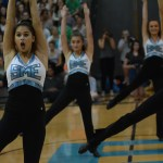 Senior Hayley Bell performs drill team routine. Photo by Carson Holtgraves
