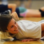 Junior Sophie Barreca participates in a drill, in which the players improve their reaction time. Photo by Libby Wilson