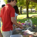 Junior Will Knutson picks out some treats supporting Coalition. Photo by Izzy Zanone