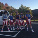 Senior Hope Hess' family went all out as Harlem Globetrotters.