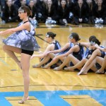 Junior Toni Englund Pirouettes at the beginning of the dance. Photo by Kaitlyn Stratman