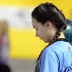 Sophomore Emma Vossler thinking before her shot. Photo by CJ Manne