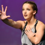 Junior Toni Englund dances during lyrical routine. Photo by Carson Holtgraves