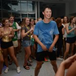 Freshman Price Terrel is caught in the middle of a dance circle. Photo by Diana Percy